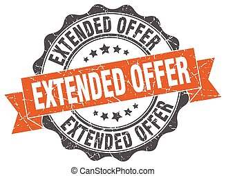extended offer stamp. sign. seal