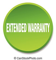 extended warranty green round flat isolated push button