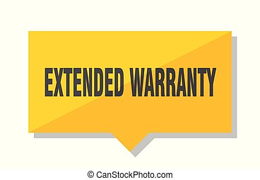 extended warranty price tag - extended warranty yellow...