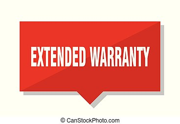 extended warranty red tag - extended warranty red square...