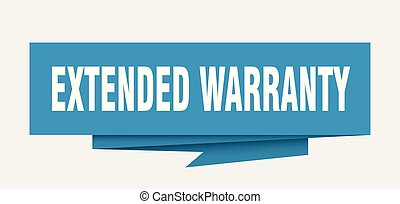 extended warranty sign. extended warranty paper origami...