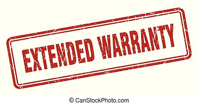extended warranty stamp. extended warranty square grunge ...