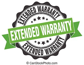 extended warranty stamp. sign. seal