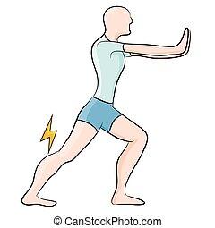extensión, músculo calf
