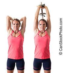 extensión, tríceps