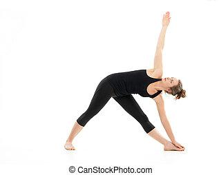 extensión, yoga, fuerza, postura