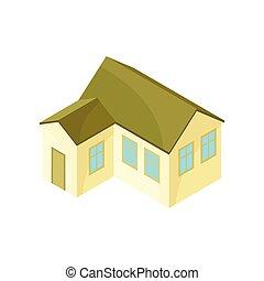 extension., 现代, 描述, 背景。, 矢量, 原色哔叽, 房子, 模型, 白色