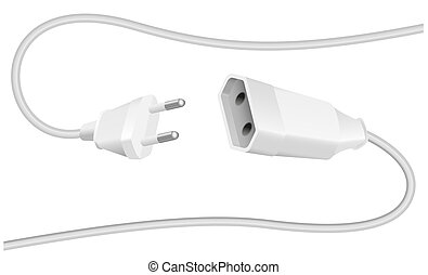 Extension Cable Plug Schuko - Extension cable and plug -...