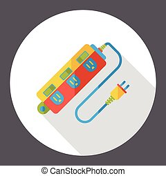 Extension cord flat icon