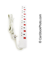 Extension cord isolated on the white background