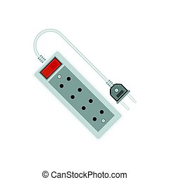 extension cord / lead icon. flat vector illustration