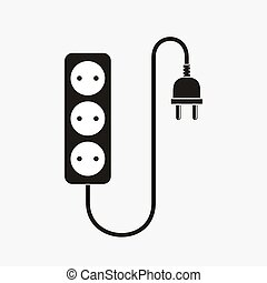 Extension cord - vector illustration.