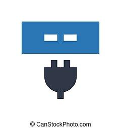 extension  glyph color icon