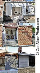 extension, maison, moderne, -, quatre, construction, étapes, nouveau