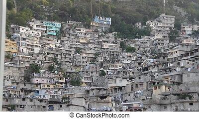 extensive hillside neighborhood in Port-au-Prince Haiti
