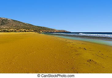 Sandbar - Extensive Sandbar During Low Tide on the Island of...