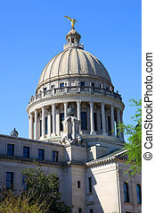 Mississippi state capital - Exterior architecture of...