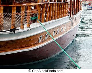 exterior, barco, placer, elementos