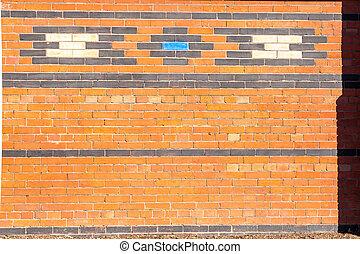 Exterior brick wall.