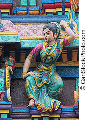 Temple of Miss Mariamman India in Ho Chi Minh City Vietnam