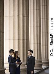 exterior, empresa / negocio, edificio., colonial, asiático, ...
