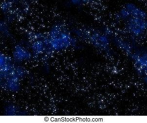 exterior, estrellas, espacio