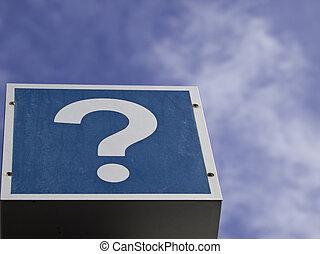 exterior, marca pergunta