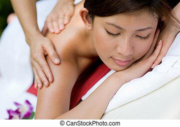 exterior, masaje