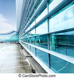 exterior of airport building