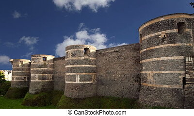 Exterior of Angers Castle, France