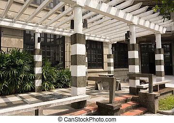 Exterior of asian building