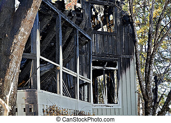 Exterior of Burned House