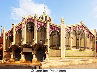 Exterior of Central Market in Valencia