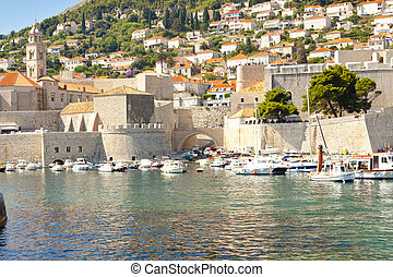 Exterior of Dubrovnik town.