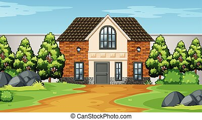 Exterior of home scene