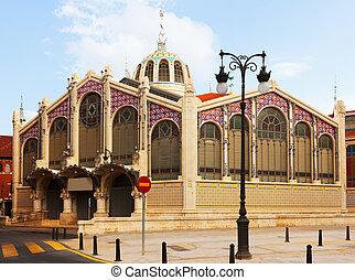 Exterior of Mercado Central in Valencia