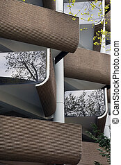 Exterior of modern building.