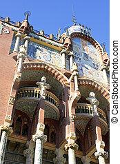 Exterior of Palau de la Musica in Barcelona