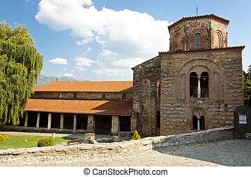 Exterior of St. Sofia church in Ohrid.