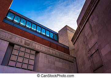 Exterior of the Holocaust Museum in Washington, DC.
