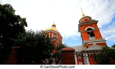Exterior of the Russian Orthodox church in Ufa