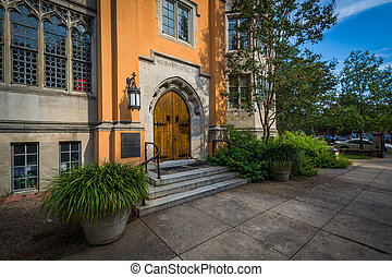Exterior of the Trinity Episcopal Cathedral, in Columbia, South Carolina.