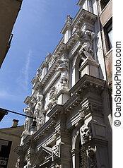 Exterior of Venice Doge's palace, Venice, Italy