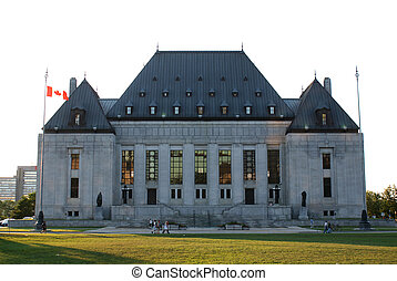 Exterior shot of the Supreme Court of Canada building in Ottawa, Ontario Canada.