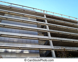 Exterior side of Parking Garage Building in San Francisco, California.