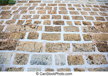 Exterior stone paved background