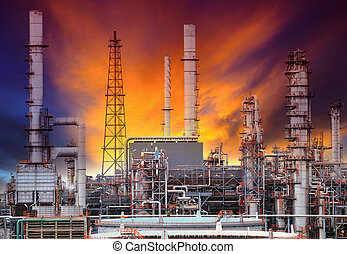 exterior structure of oil refinery plant in petrochemical industry plant