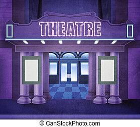 exterior, teatro