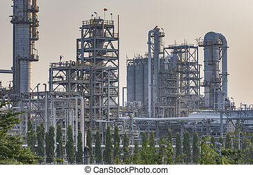 exterior tube of petrochemical plant and oil refinery for produce industrial material in heavy petroleum industry estate