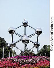 Atomium in Brussels - Exterior view of Atomium in Brussels -...